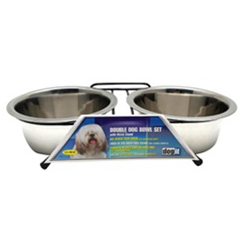 Dogit Ss Double Diner Dish Med 25.3oz{requires 3-7 Days before shipping out}