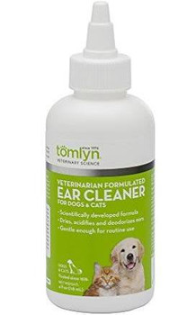 Veterinarian Formulated Ear Cleaner for dogs and cats. Dries, acidifies, deodorizes and softens ear wax. Gentle enough for routine use. Exfoliating effect helps remove the substrates necessary for the reproduction of yeast   assists in the prevention of e