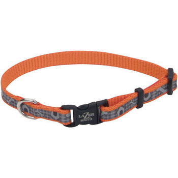 Our Lazer Brite Reflective Adjustable Dog Collar features reflective material visible up to 600 feet away for nighttime safety with fashionable flair. Available in 8-12, 12-18 and 18-26. To be safe, you must be seen. Our Lazer Brite Reflective Adjustable Dog Collar is made from the same reflective material used by safety professionals and is visible up to 600 feet away. This collar is great for dogs who love to be outdoors.