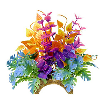 This natural looking plant   flower garden will anchor nicely into any aquarium or terrarium substrate with it #;s polyresin arch base. Filled with colorful soft plastic leaves   branches that are sturdy enough to stand up on their own, but soft enough