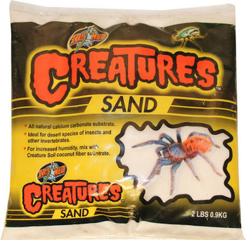 Zoo Meds Creatures Sand is an all natural calcium carbonate substrate. Ideal for desert species of insects and other invertebrates. For increased humidity, mix with Creature Soil coconut fiber substrate.