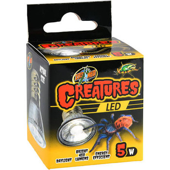 Zoo Meds Creatures LED is ideal for insects and other invertebrate pets. Bright, naturalistic light promotes live plant growth. Long-life, energy efficient daylight LED lamp. Designed for us in Creature Dome Lamp Fixture: CT-35