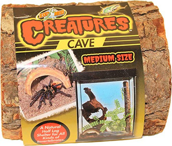 Zoo Meds Creatures Cave is a natural half log shelter for all kinds of invertebrates and provides your creature pets with a sense of security in their habitat. Made from sutainably harvested wood gorwn in the USA.