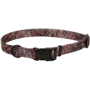 Our Remington Adjustable Patterned Dog Collar is perfect for the hard working hunting dog.Featuring vibrant, colorfast Remington inspired patterns, our collars are completely adjustable to get just the right fit for most dogs. The unique curved, snap-lock buckle provides added comfort.