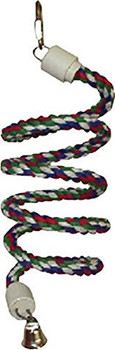 A& E Cage Rainbow Cotton Rope Boing With Bell {L+1} 644030