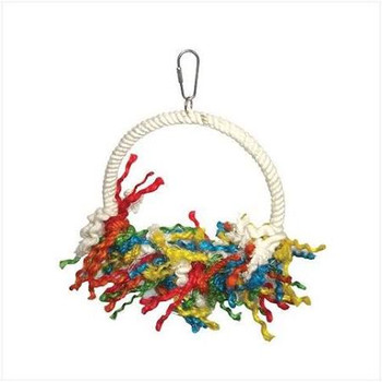 More Than Just A Bird Swing. The Colorful Rope Strands Make This A Great Preening Toy For Medium To Large Sized Birds. For Small Birds This Is Durable And Comfortable Bird Swing, Bird Perch And Bird Toy That Will Liven Up Their Cage. The Swing Is Covered