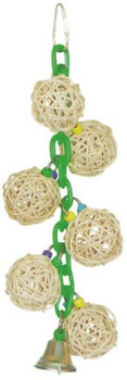 A& E Cage 6 Vine Balls On Chain W/ Bell