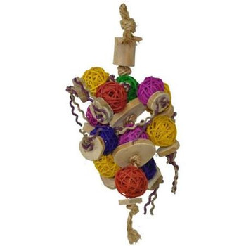 Java, Rattan Ball, Sisal, Bamboo, Coconut - All From Natural Earth-friendly Materiials. 11 Long! Great For Small To Medium Size Birds, From Caiques To Eclectus. Make This A Foraging Toy, Too!