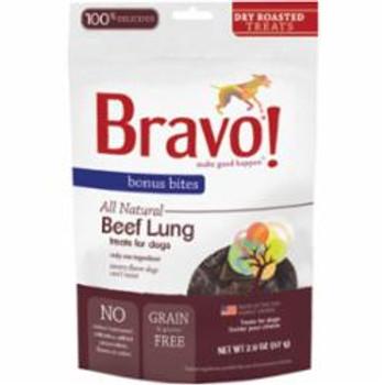 Bravo Bonus Bites Freeze Dried Beef Lung Dog 2Z {L+1} 294035