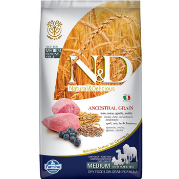 FARMINA DOG ANCESTRAL GRAIN LAMB BLUEBERRY MEDIUM & MAXI 5.5LB