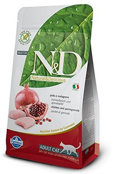 Farmina N&d Natural And Delicious Prime Adult Chicken & Pomegranate Dry Cat Food-3.3-lb-{L-x}