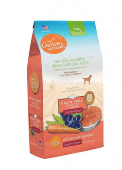 Canine Naturals Grain Free Wild Salmon And Vegetables Large Breed Recipe Uses Wild Salmon As Our First Ingredient. This Ensures Your Dog Will Receive The Key Amino Acids Needed To Maintain Ideal Weight, Lean Muscle Mass And A Shiny Healthy Coat With The G