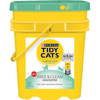 Fill Your Cat's Litter Box With Purina Tidy Cats Free - Clean With Tidylock Protection Clumping Cat Litter, And Provide Her With Uncompromising Odor Control. This Litter Solution Is Free Of Fragrances And Dyes, Making It An Ideal Option For Cats And P