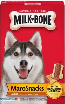 Milkbone Mar-O-Snacks Treats 4/24z *Repl 799114