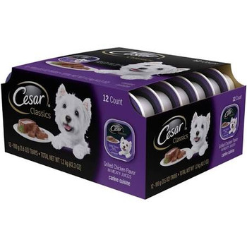 Cesar Grilled Chicken Flavor Wet Dog Food Is Made With Poultry Simmered In Meaty Juices. Cesar Dog Food For Small Dogs Combines High-quality Protein And A Taste They Love.