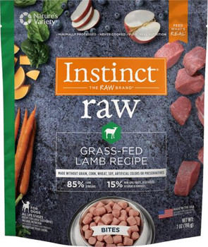 Nature's Variety Instinct 85/15 Raw Grass Fed Lamb Recipe for Dogs Bites 7Z SD-5