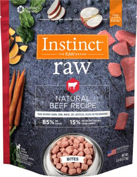 Nature's Variety Instinct 85/15 Raw All Natural Beef Recipe for Dogs Bites 6lb SD-5