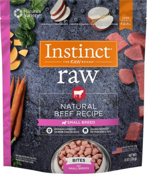 Nature's Variety Instinct 85/15 Raw All Natural Beef for Small Breeds Bites 3Z SD-5