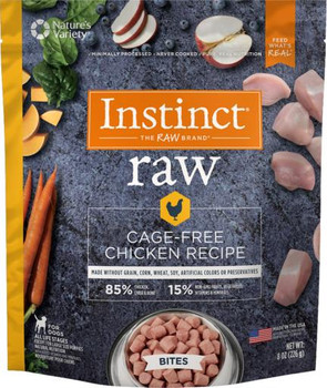 Nature's Variety Instinct 85/15 Raw Cage Free Chicken Recipe for Dogs Bites 8Z SD-5