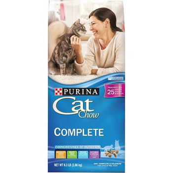 This 6.3lb Bag Of Purina Cat Chow Complete Is Full Of What Cats Need At Any Age, Thanks To The Four Cornerstones Of Nutrition: High-quality Protein For Strong, Lean Muscles; Healthy Carbs For Vital Energy; Essential Fatty Acids For A Shiny Coat; And 25 Vi