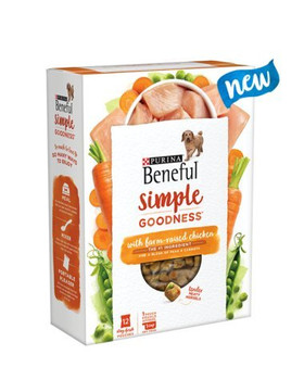 Purina Beneful Simple Goodness With Farm-raised Chicken Tender Meaty Morsels .12-stay Fresh Packs