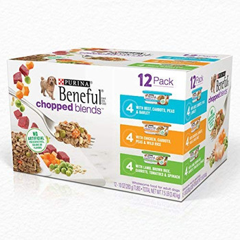 This variety pack features three delicious recipes, each made with finely chopped ingredients you can actually see like lamb, chicken, and beef with veggies like carrots, tomatoes, spinach and more. Theyre enhanced with vitamins and minerals to provide a complete and balanced diet for dogs of all ages, even puppies. You can give them as a meal on their own or as a delicious kibble topper to delight even the pickiest eater. Plus, they come in convenient containers with lids that are sealed for maximum freshness and can be reused and stored as needed, making them perfect for no-mess doggie portion control.