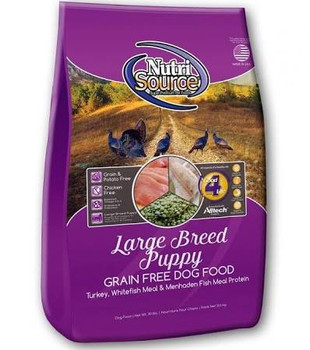 Nutrisource Grain Free Large Breed Puppy Is Ideal For Breeds That Mature At More Than 50 Lbs. Nutrisource Gf Lb Puppy Formulas Deliver Super Premium Nutrition In A Holistically Formulated, Easy-to-digest Food For Balanced Muscular And Skeletal Growth In L