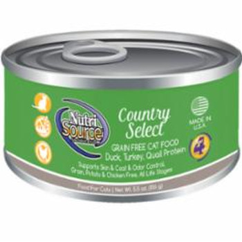 Offering A High Quality, Holistic Recipe, Nutrisource Grain Free Country Select Canned Cat Food Is An Easy To Digest Pate Your Cat Is Sure To Love! This Recipe Also Has Added Prebiotics And Highly Digestible Minerals For Immune And Growth Support. Nutriso