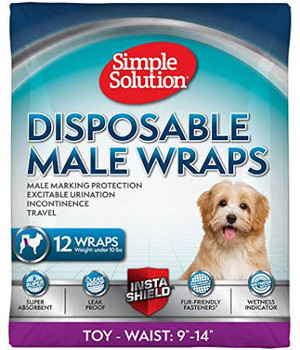 New super absorbent male wraps to help prevent marking and help with incontinence.