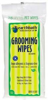 Earthbath Grooming Wipes Hypo Allergenic Wipes 28 Ct. Travel Pack