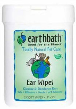 Earthbath Grooming Wipes Ear Wipes 25 Ct.