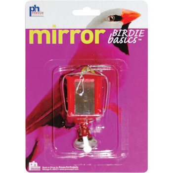 Prevue Pet Products Birdie Basics Lantern Mirrors keep birds entertained for hours as they interact with their own reflection. Toy and bells are included for additional fun and interest.