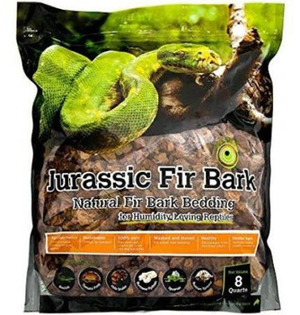 Galapagos Jurassic Fir Bark is for Humidity-Loving Reptiles. Our bedding is made from 100% Douglas Fir Bark. We use a smaller bark size to facilitate feeding, crawling, and slithering. It is a perfect substrate for Basilisks, Tomato Frogs, Milk Snakes, Burmese Pythons, Iguanas, Russian Tortoises, Boa Constrictors, Gopher Snakes, and similar species.