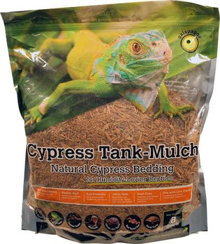 Galapagos Cypress Tank Mulch is for Humidity-Loving Reptiles. Our bedding is made from 100% Cypress Trees. It is a perfect substrate for Iguanas, Ball   Royal Pythons, Frogs   Toads, Gopher Snakes, Monitors, Ornate Box Turtles, Red Tailed Boas, Wood Turtl