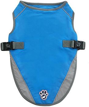 Canada Pooch Chill Seeker Cooling Vest - Aqua - 12