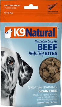 Treat your dog with the wholesome goodness of our Healthy Bites. The healthy treat you can feel good about giving. Perfect for training, rewarding or just for being your best friend.