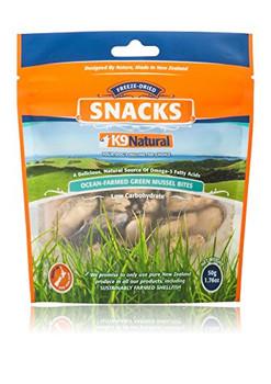 K9 Natural Dog Freeze-dried Green-lipped Mussel Snack Treats 1.76oz {L+x}