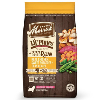 Merrick Grain Free Lil' Plates + Freeze Dried Raw Dry Dog Food Recipes Deliver A Perfect Combination Of Protein-rich, Grain-free Kibble Plus Real, Whole Pieces Of Freeze-dried Raw Meat For Enhanced Nutritional Benefits And Fresh Taste Of A Raw Diet In A C