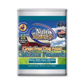 Nutrisource Chicken Grain Free Formula Delivers Super Premium Nutrition In A Holistically Formulated, Easy-to-digest Canned Food. We Combine Farm Fresh Chicken Minced To A Fine Pate With Highly Digestible Minerals - Potent Pre-biotics To Promote Balanced