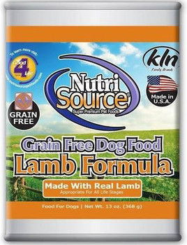 Offering A High Quality, Holistic Recipe, Nutrisource Grain Free Lamb Formula Canned Dog Food Is An Easy To Digest Pate Your Pup Is Sure To Love! This Recipe Also Has Added Prebiotics And Highly Digestible Minerals For Immune And Growth Support. Nutrisour