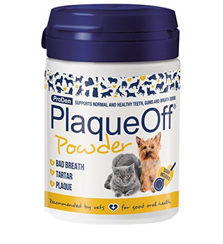 Proden Plaqueoff Animal Is An Easy Way For Those Dog And Cat Owners To Care For Their Pet's Teeth Who Don't Have The Patience Or Inclination To Brush Their Dog Or Cat's Teeth Regularly. The Product Comes In Powdered Form And It Is Simply Added On A Daily