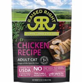 Raised Right Cat Frozen Adult Chicken 2lb