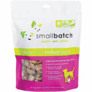 Small Batch Dog Cat Freeze Dried Turkey Hearts 3.5oz