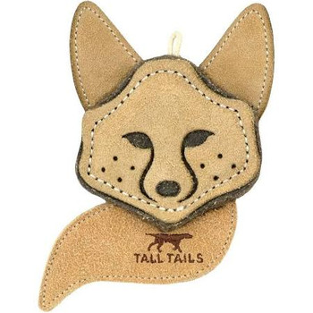 Tall Tails Dog Toy Natural Leather Fox 4 Inches {L-x}