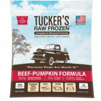 Tuckers Dog Frozen Complete Balanced Beef Pumpkin 3lb