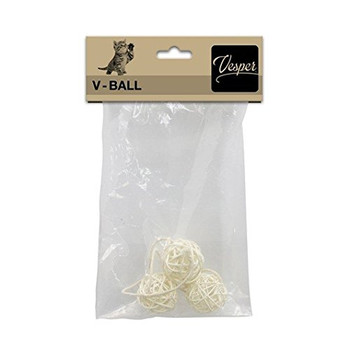 The Vesper V-ball Replacement Part In Light Rattan Is Suitable For All The Vesper V-line Furniture.     Dimensions  : 4 Cm
