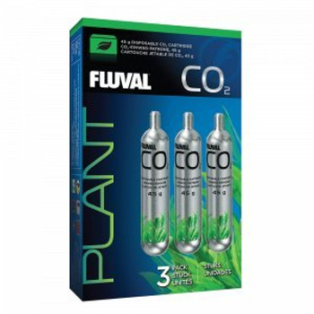 The Fluval 45g Co2 Disposable Cartridges Are Available In A Pack Of 3. These Replacement Cartridges Are Suitable For The Fluval Pressurized 45g Co2 Kit (17554). Cartridges Are Also Available In A Pack Of 1 (17555, Sold Separately).