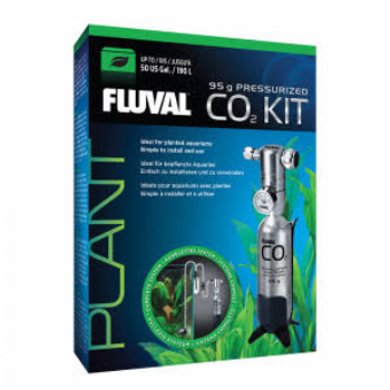The Fluval Pressurized Co2 Kits Come Complete With All The Necessary Tools Needed To Grow Lush And Vibrant Aquarium Plants. This Disposable Cartridge System Is Ideal For Large Planted Aquariums (up To 190 L/50 Us Gal).   It Sets Up In Just Minutes And Ens