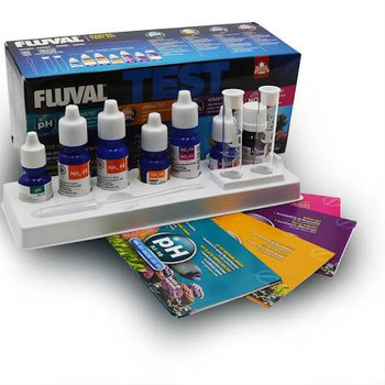 The Fluval Mini Master Test Kit Offers Essential Testing Of Ph, Ammonia, Nitrite And Nitrate To Help You Maintain A Balanced And Healthy Environment For Your Fish And Plant Life.    Kit Includes  :     1 X Ph (10 Ml)   2 X Nh3 (15 Ml)   1 X Nh3 (10 Ml)