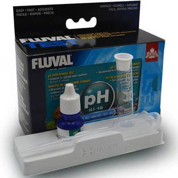 Accurately Measure The Ph Of Your Freshwater Or Saltwater Aquarium With The Fluval Ph Wide Range Test Kit. The Common Cause Of Fish Fatality Is Due To Ph Variations. Fish Can Adapt To Various Ph Levels, If Not Broadly Out Of Range, But They Can't Adapt To